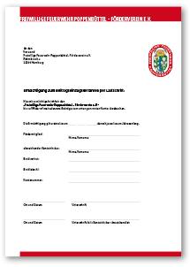TN-Einzug-Formular